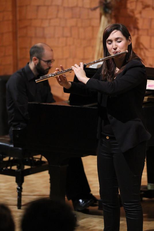 """ANDREA AMAT, FLAUTA & MIGUEL CARBONELL, PIANO - AUDITORIO """"ÁNGEL BARJA"""" - LEÓN 23.01.15"""