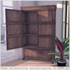 Alouette - Worn Wooden Armoire