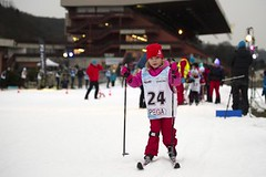 Lyžaři místo koní - Prahu dobyli šampioni z hor