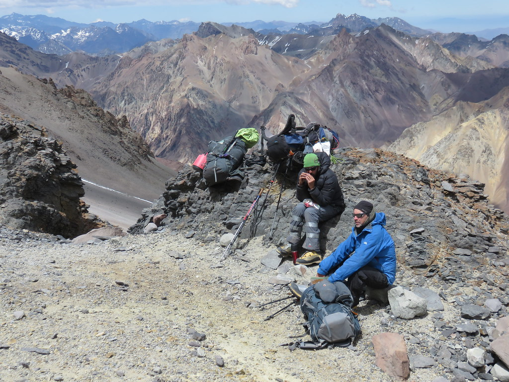 Between Camp Canada and Nido de Condores, Aconcagua