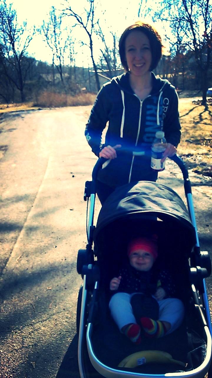 Kaitlan on a walk - 5 months