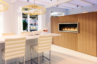 Planika fireplace at the Masters of Lxry