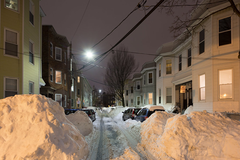 Cambridge Street After the Blizzard