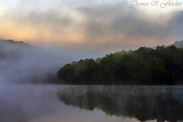 Dawn on a Misty Spring Morning