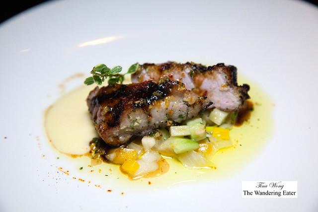 Ventresca al oloroso - Tuna belly, fennel salad, espelette