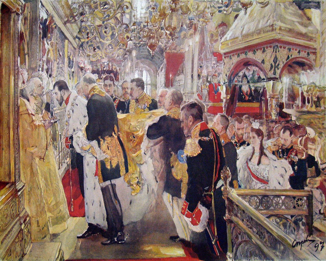 Coronation of Tsar Nicholas II of Russia by Valentin Alexandrovich Serov, 1899