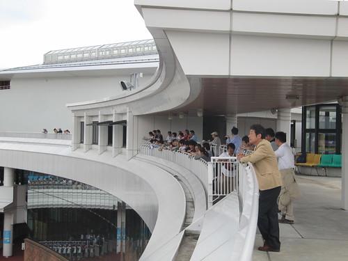 函館競馬場の光の広場の様子