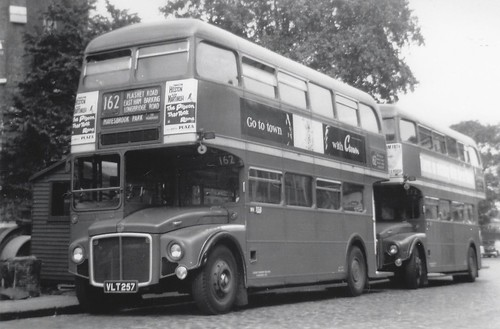 London transport RM257 on route 162 Stratford 1960's.