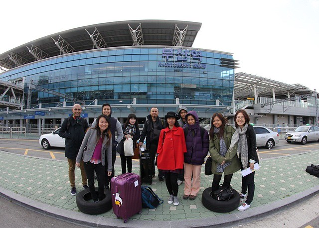 Busan Korea - Air asia X media trip group pic