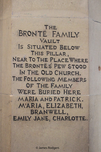 Bronte Plaque inside St Michael And All Angels Church