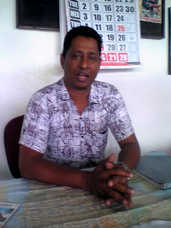 Ferdinando Prasanna at the Rail Tours office, Colombo Fort Station.