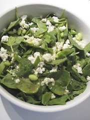 Baby Spinach, Snow Pea and Feta Cheese Salad