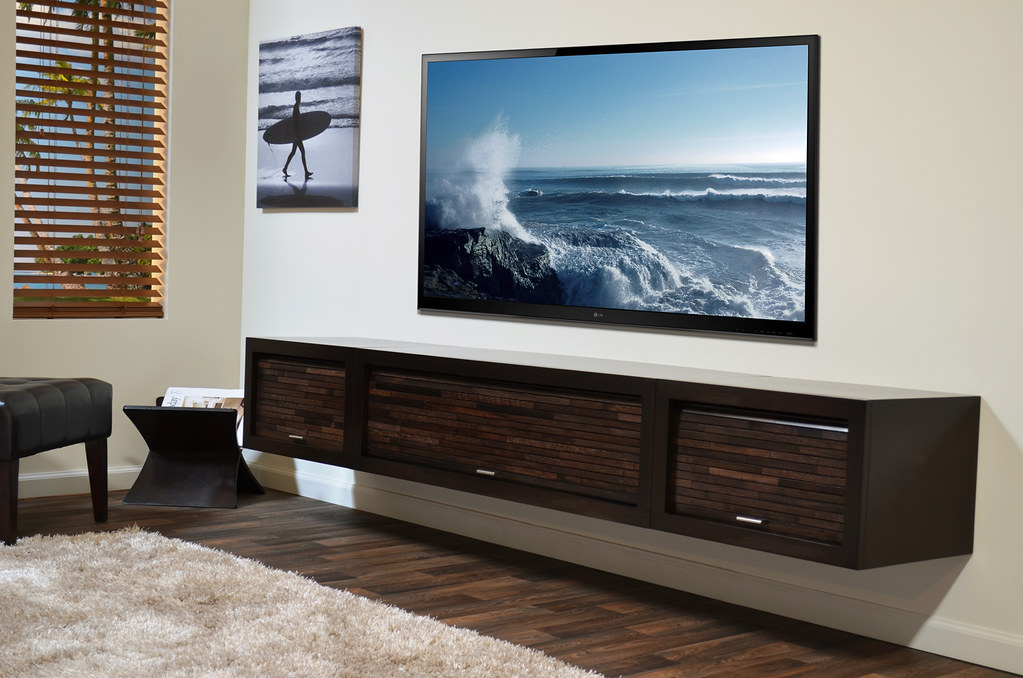 Wall Hanging Entertainment Center wall mount media stand eco geo entertainment center espresso - a