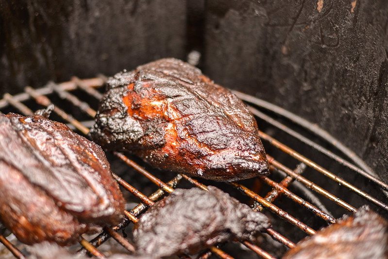 Smoked Char Siu Pork Shoulder Steaks