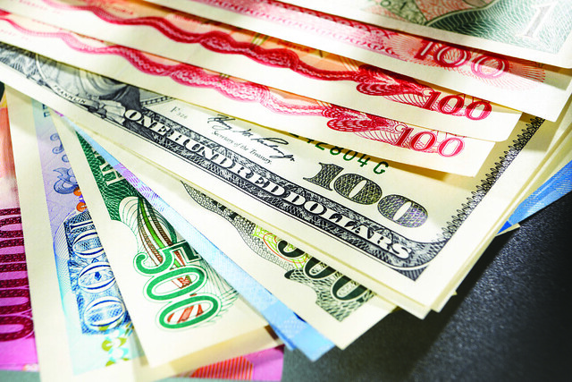 Around the world money
