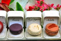 cake(0.0), buttercream(0.0), cake decorating(0.0), icing(0.0), baking(1.0), petit four(1.0), sweetness(1.0), food(1.0), macaroon(1.0), dessert(1.0), pink(1.0),