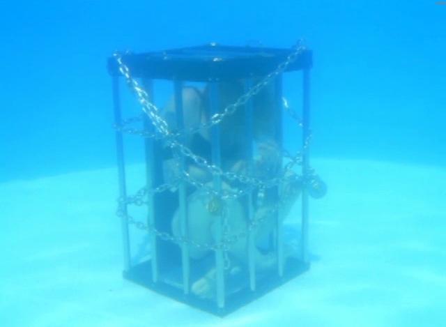 Dayle Krall performing underwater