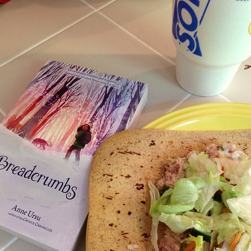 Lunch and prereading a book for the oldest.