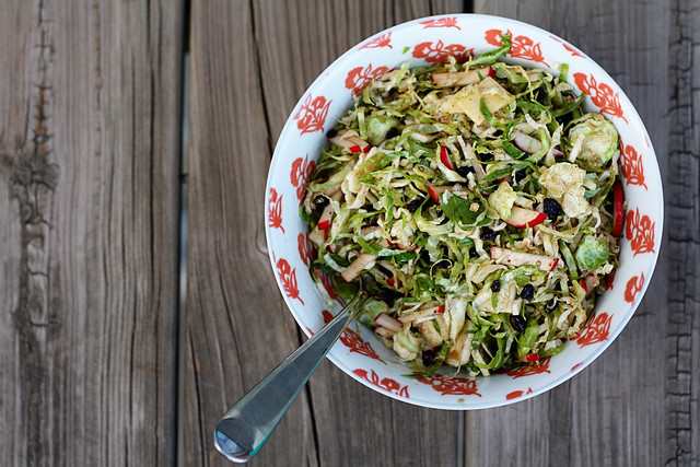 Shaved Brussels sprout salad FWMP