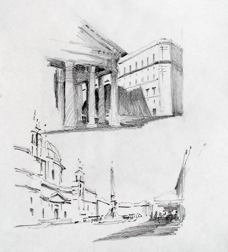 Pantheon & Piazza Navona studies - Roma, IT