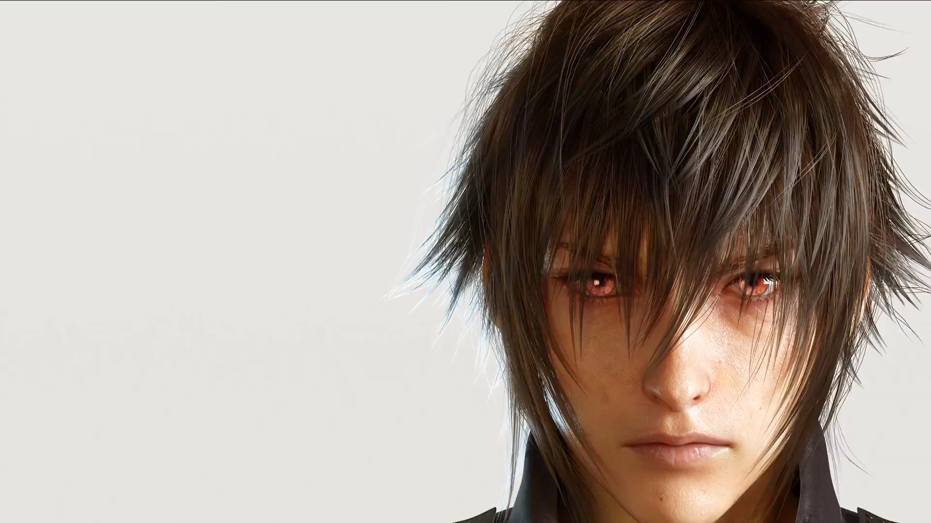 Noctis' eyes are a serious red when he is using the powers bestowed upon him.