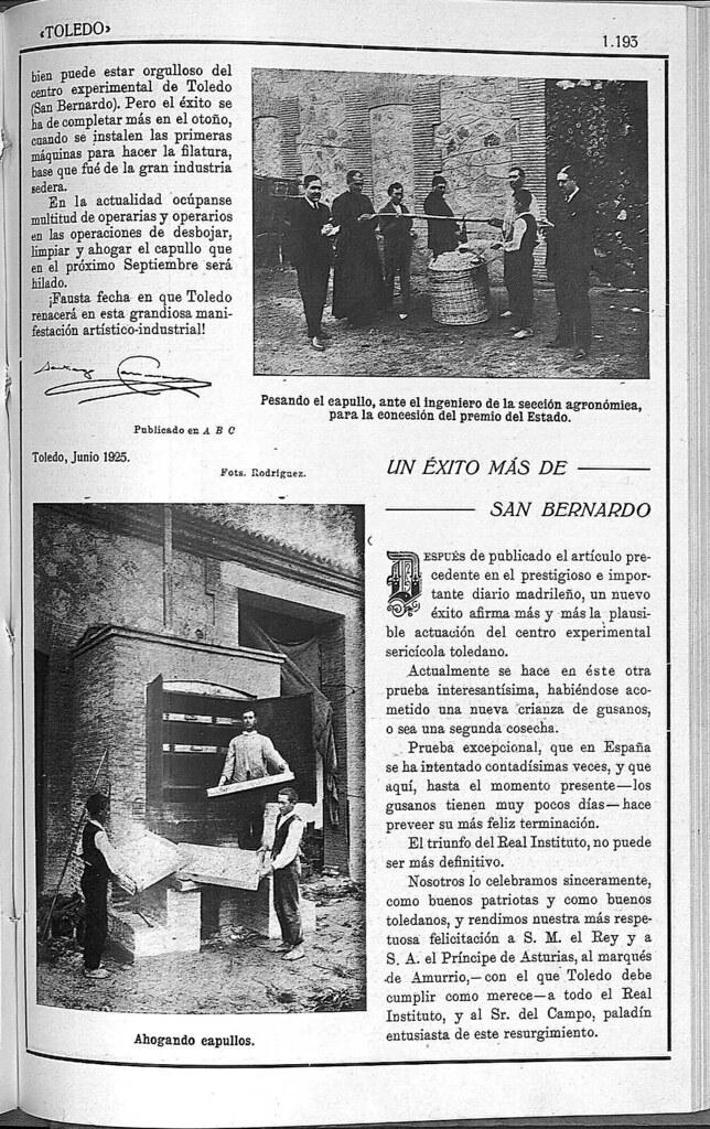 Monasterio de San Bernardo de Toledo en 1925. Fotografía publicada en la Revista Toledo en julio de 1925