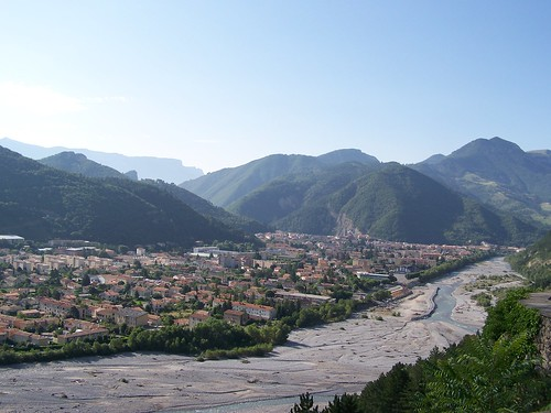 View over Digne from the reserve geologique