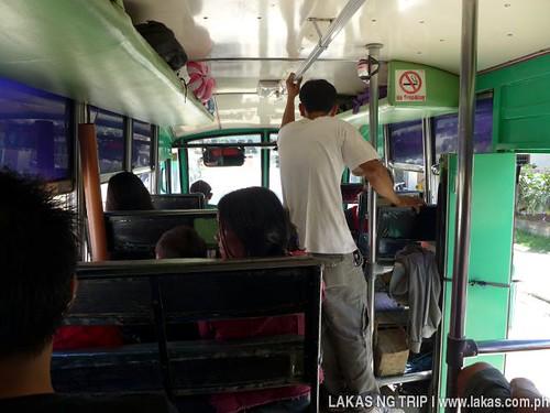 Inside the San Isidro bus going to the Poblacion of San Vicente, Palawan