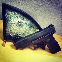 Springfield XDM 9mm #nopenetration #bulletproof #texasarmoring #armoredcars #sanantonio #texas #springfield #guns #pistol #glass #cars