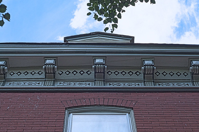 Soulard Neighborhood, in Saint Louis, Missouri, USA - cornice
