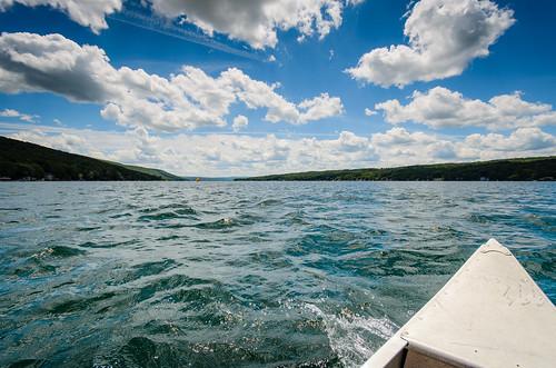 blue camping summer sky lake ny newyork water clouds unitedstates upstate canoe keukapark keyuka d5100