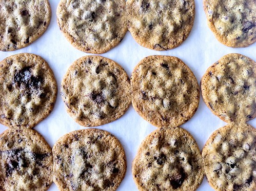 Chocolate Chip Cookies Overhead