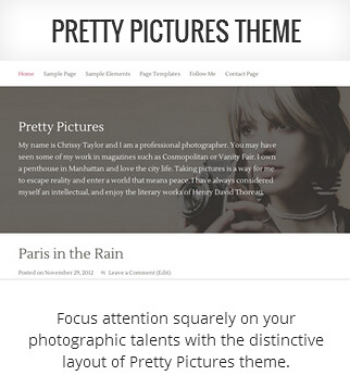 Genesis child theme Pretty Pictures