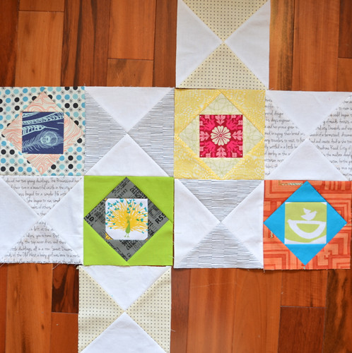 Thrift blocks - for my turn in the Modern Stitching Bee