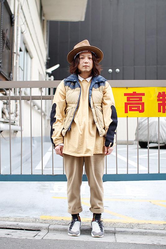 Drop Tokyo Street Style - Area- Harajuku,Tokyo | 原宿,東京 Name- Nobusuke Yoshioka | 吉岡申祐 2