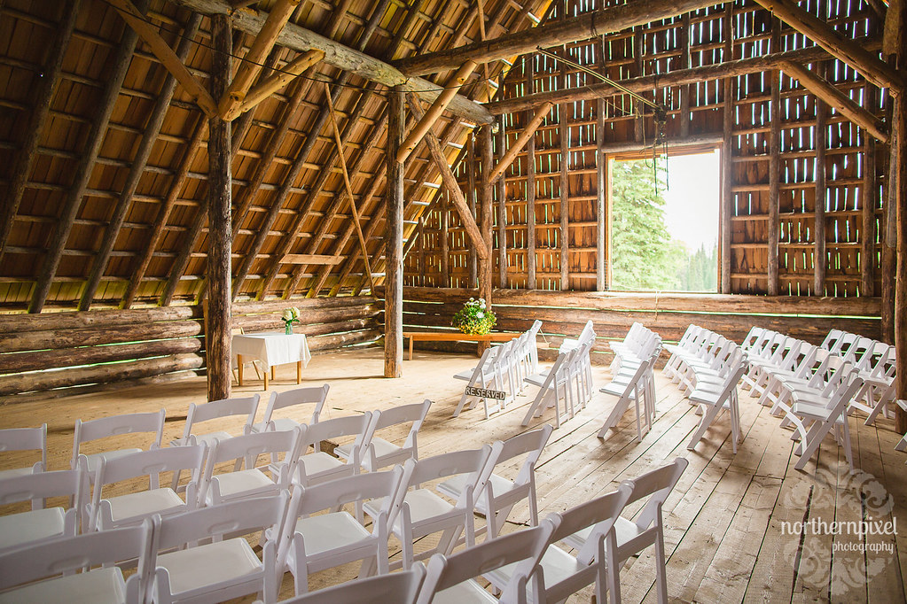Huble Homestead Barn Wedding Ceremony Northern British Columbia