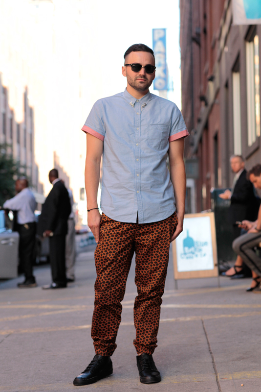 collin_ss14 MadeFW, NYFW, men, Quick Shots, W. 15th Street, street style, street fashion,