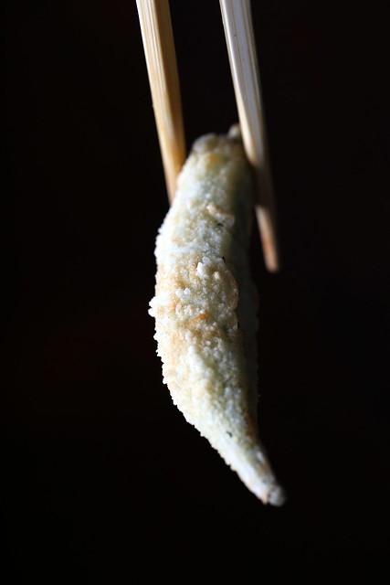 Deep-Fried Whole Okra with Vinegar Sauce