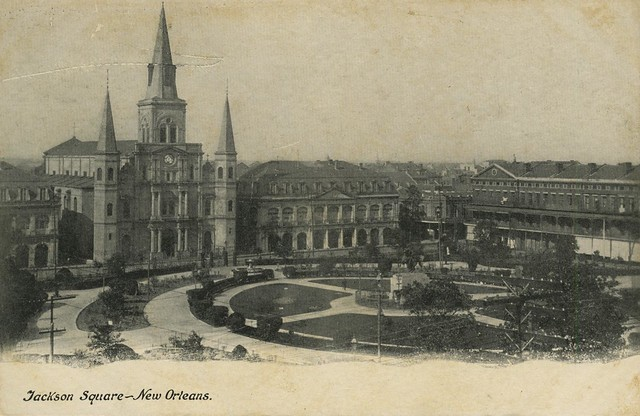Historic Photograph of Jackson Square