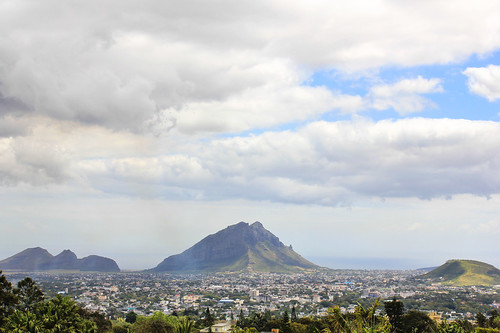 mountains clouds island view maurice ile crater tropical mauritius vulcano trouauxcerfs curepipe 550d