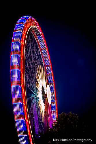 Lights of Ferris Wheel Cannstatter Volksfest 2013 by Dirk Mueller Photography