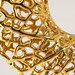 Vessel Pendant in gold-plated brass by nervous system