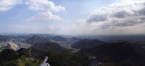 金華山 岐阜城からの展望 西山方面