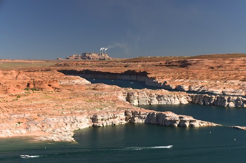Lake Powell and the Navajo Generating Station (Glen Canyon N.R.A.)
