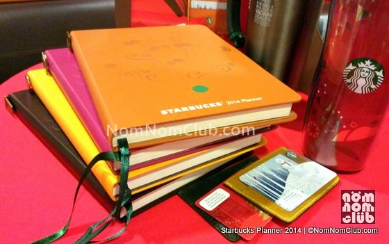 Colors of Starbucks Planners 2014