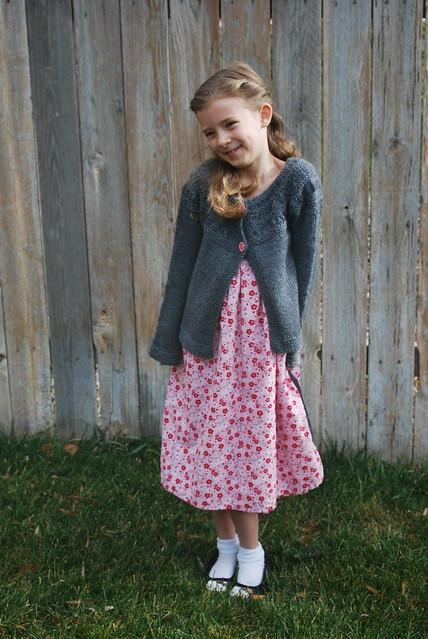 Tiny Tea Leaves Cardigan and Miss Mary Dress