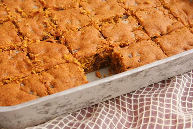 pumpkin chocolate chip bars 3