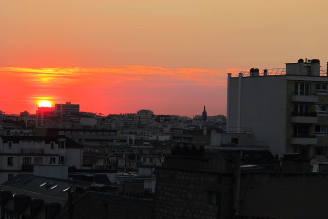 sunset from Paris host's balcony