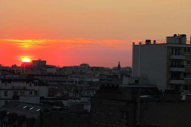 sunset from Paris host's balcony