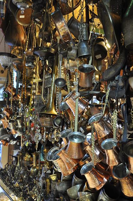 Istanbul Grand Bazaar copper wares